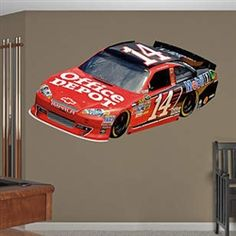 Tony Stewart #14 Office Depot 2012 NASCAR Wall Graphic by Fathead.  Buy it @ReadyGOLF.com