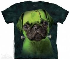 The Mountain-Shirts Hunde Mops - Franken-Pug Face