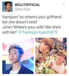 """ Jimin, where are TaeTae and Jungkook? Havent seen them since Jungkook wanted to go to the toilet... """