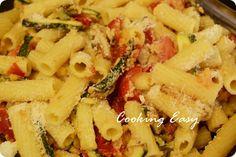 Cooking easy: Tortiglioni gialli con zucchine e pomodori