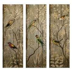Amazon Com Imax Calima Bird Wall Decor Set Of 3 Home