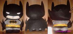 Batman (23x15 cm) in pannolenci con imbottitura 100% poliestere. 15.00 € - VENDUTO. Articolo su ordinazione