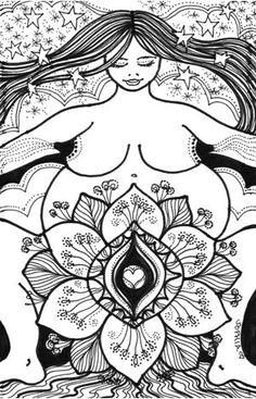 Wise Woman Herbal Ezine with Susan Weed [Art: She is enough] Goddess Art, Goddess Symbols, Birth Art, Pregnancy Art, Weed Art, Fat Art, Sacred Feminine, Wise Women, Body Love