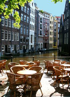 Amsterdam canal cafe