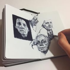 """1,635 Likes, 11 Comments - Gaia Alari (@gaia.alari) on Instagram: """"Very quick sketches on a new sketchbook I like also such white pages! #art #artist #drawing…"""""""