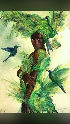 Mothers Day Drawings Discover Aja by Bernadett Bagyinka Aja: Healing patron of the forest the animals. yoruba culture/Nigeria -West -Africa by Bernadett Bagyinka Black Love Art, Black Girl Art, African American Art, African Art, African Beauty, African Goddess, Black Art Pictures, Room Pictures, Arte Black