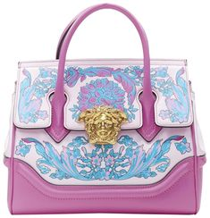 Versace Designer, Versace Brand, Quilted Leather, Pink Leather, Calf Leather, Donatella Versace, Tote Bag, Clutch Bag, Satchel Bag