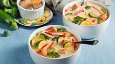 Tom Kha Tofu . Here, tofu and veggies fill out a traditional Thai soup for a nutritionally balanced meal.