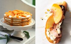 Time for Peaches! 10 Sweet & Savory Ideas for the Season Peach Pancakes, Honey Glazed Chicken, Icebox Cake, Dessert Recipes, Desserts, Sweet Tooth, Sweet Treats, Peaches, Yummy Food