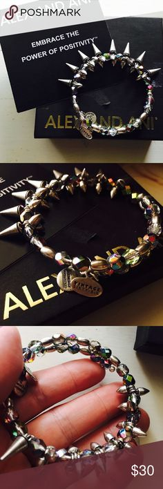 Last nite avail! •rock&raw•alex & ani•prism• moving and will be sending to consignment, act fast if you want..•new with box and card but no tag • prism color• check how the light reflects it • retails at $68 • so pretty.. Alex & Ani Jewelry Bracelets