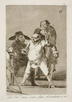 "Francisco de Goya: ""¿Está Vm… pues, Como digo… eh! Cuidado! si no!..."". Serie ""Los caprichos"" [76]. Etching, aquatint and drypoint on paper, 213 x 150 mm, 1797-99. Museo Nacional del Prado, Madrid, Spain"