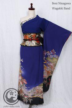 J mix Kimono Fashion, Lolita Fashion, Fashion Dresses, Yukata, Modern Kimono, Japanese Outfits, Kimono Dress, Kawaii Clothes, Japan Fashion