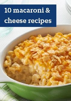 10 macaroni & cheese recipes – Check out our top-rated mac and cheese recipes—from easy bakes and quick skillets to budget-friendly dishes and kids' favorites.