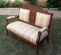 Antique Eastlake Settee by Successionary on Etsy, $297.99