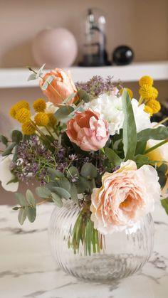 Silk Flower Centerpieces, Modern Flower Arrangements, Flower Vases, Flower Decorations, Wedding Centerpieces, Simple Flowers, Fake Flowers, Elegant Wedding Colors, Wedding Top Table