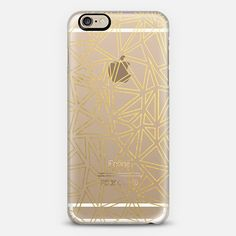 Abstract New Gold Transparent - Classic Snap Case