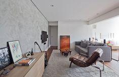 sala de estar, poltrona, estúdio bola, stockler, cimento queimado, home theater, Estúdio BRA