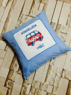 Cross stitch pillow woswos ❤️