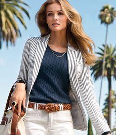 striped blazer $34
