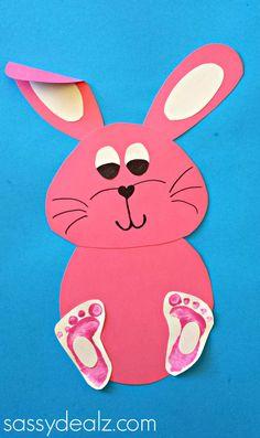 - Paper Bowl Easter Bunny – Kid Craft Easy Kid Crafts Bunny Footprint Craft For Kids - Crafty Morning Rabbit Crafts, Bunny Crafts, Crafts For Kids To Make, Easter Crafts For Kids, Craft Kids, Kids Fun, Daycare Crafts, Preschool Crafts, Toddler Art