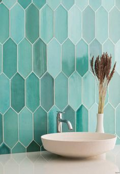 Shop Tiles in Auckland at our Showroom - The Tile People Ceramic Tile Bathrooms, Turquoise Bathroom, Bathroom Design Small, Bathroom Interior Design, Modern Bathroom, Deco Design, Tile Design, Turquoise Tile, Teal Tiles
