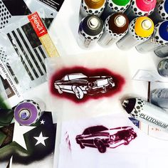 Tshirt Making with @stencil1 --> #PlutoniumPaint #SprayPaint #MadeInTheUSA #DIY #Crafts