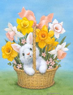Ruth J. Evans Morehead –– You are in the right place about Decoupage pictures Here we offer you the most beautiful pictures about the Decoupage macetas you are looking for. Easter Art, Easter Crafts, Easter Bunny, Ostern Wallpaper, Easter Drawings, Easter Illustration, Easter Pictures, Easter Season, Diy Ostern