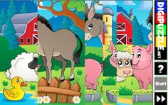 PUZZLES educativos GRATIS: KINDER farm