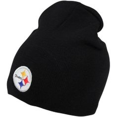 8fe1808a3abcf NFL  47 Brand Pittsburgh Steelers Cuffless Knit Hat - Black by Twins.   11.95.