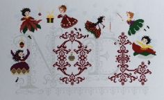 RARE FRENCH A Mon Ami Pierre CROSS STITCH PATTERN CHART Christmas Fairies