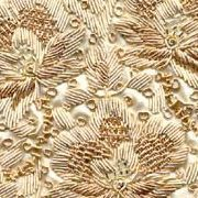 """Zardosi Indian embroidery. """"Zardozi"""" is Persian for """"Sewing with gold string""""."""