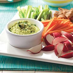 Edamame Hummus - tried this, the flavor is not as strong as garbanzo bean hummus, but it's still rather good. I added a bit of paprika and a little extra garlic along with some sea salt