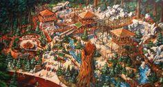 Concept art for Redwood Creek Challenge Trail