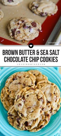 Brown Butter Chocolate Chip Cookies With Sea Salt