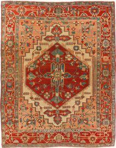 Magnificent Antique Serapi Rug