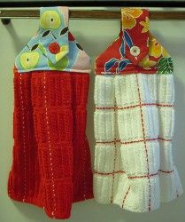 Make decorative Hanging Dishtowels as gifts or for your kitchen. Use fun fabric for the dishtowels so they'll match the rest of your kitchen decor. This easy project produces a usable, handy craft.