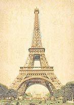 Vintage Eiffel Tower mural