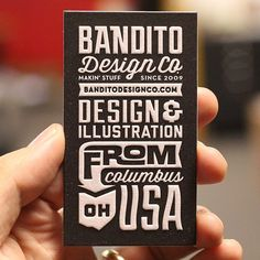 Bandito Design Co. -- great business card