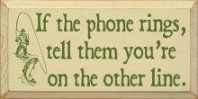 If the phone rings, tell them you're on the other line.