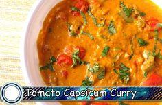 Tomato Capsicum Curry Recipe | Capsicum Masala Curry Recipe in Hindi