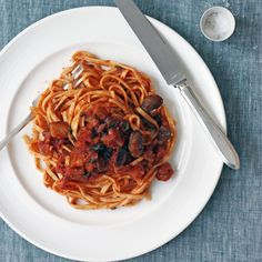 It's spaghetti sauce like Mom used to make, but without the hours and hours of simmering. Our version, chunky with bits of eggplant and mushrooms, is ...