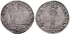 Mocenigo o lira (1541) del doge Pietro Lando (1539-1545)