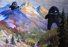 monster paintings - Driscoll Forrest Reid