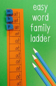 Teach Your Child to Read - Word Family Activity - The Relaxed Homeschool - Give Your Child a Head Start, and.Pave the Way for a Bright, Successful Future. Kindergarten Centers, Kindergarten Reading, Teaching Reading, Literacy Centers, Guided Reading, Kindergarten Phonics, Writing Centers, Literacy Stations, Reading Centers