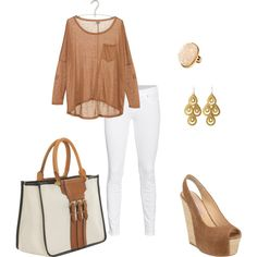 Needs and undershirt but I like.Tans, created by #vivcen10 on #polyvore. #fashion #style True Religion Gianmarco Lorenzi
