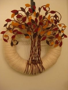 Fall Wreath: Tree in Autumn #wreath