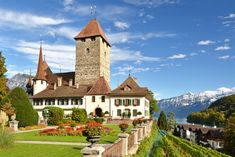 Spiez Castle, Bern, Switzerland puzzle in Castles jigsaw puzzles on TheJigsawPuzzles.com. Play full screen, enjoy Puzzle of the Day and thousands more. Thun Switzerland, Lake Thun, Castle Tattoo, Puzzle Of The Day, Holland, Jigsaw Puzzles, Beautiful Places, Europe, Mansions