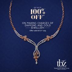 Now you can have different jewelry for different occasions , with our offer to get up to off on making charges of Gold and Diamond jewelry. India Jewelry, Pearl Jewelry, Gold Jewelry, Jewelry Necklaces, American Diamond Jewellery, Diamond Jewelry, Diamond Necklace Simple, Gold Designs, Diamonds And Gold