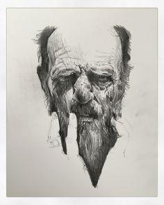 Head study, Andrei Riabovitchev on ArtStation at https://www.artstation.com/artwork/6k0lV