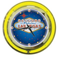 """Las Vegas Neon Clock - 14"""" - Out of Stock - Due back in Stock April 10"""